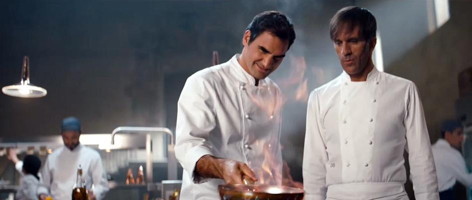 Roger Federer, Michelin yıldızlı şef Davide Oldani'ye karşı