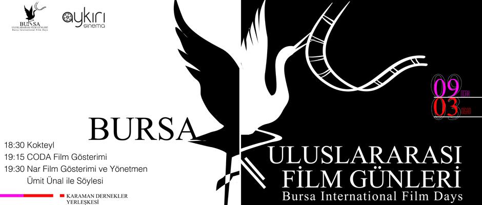 Bursa'da Uluslararası Film Günleri başlıyor