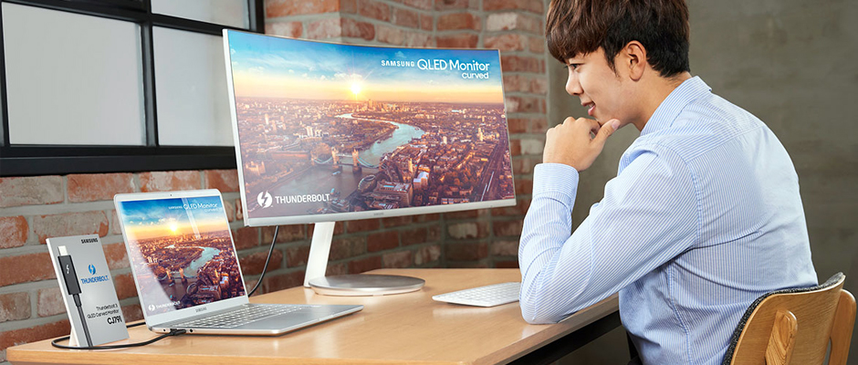 Samsung ilk Thunderbolt 3 QLED kavisli monitörünü CES 2018'de tanıtacak